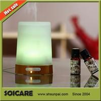 Wood+Glass ultrasonic air humidifier purifier aroma diffuser, wholesale shanghai aroma diffuser oem