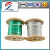 7X19 2.38-3.18mm green colour pvc coated steel wire rope