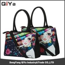 New Products Fashion Canvas Lady Handbag Digital Printing Handbag