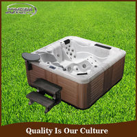 Fashion design whirlpool outdoor wooden hot tubs made in china