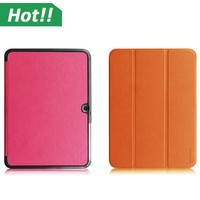 Ultra Slim 3 Fold PU Leather Tablet Case Cover with PC transparent back cover stand flip case