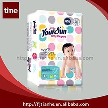 YOUR SUN Disposable Sleepy Baby Diaper Manufacturers In China