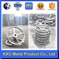 Custom round hole hand wheel casting for valves