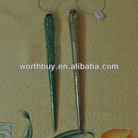 18cm cheap glass icicle ornaments from China factory