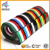 Fashionable Colored Stripe Belt Polyester Webbing Canvas Men Belts