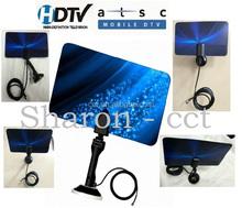 Model no. HD-032 Flat design Digital Indoor Antenna TV HDTV 1080P DTV Box Ready Flat Antenna