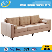 Antique 40 High density foam fabric sofa with solid wood legs-#S011-M3-6