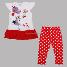 (HG4825) 2-6Y white nova kids suits cheap wholesale baby clothing set girls summer sets