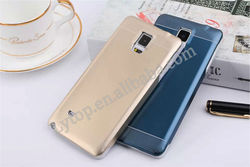 Aluminum metal case for samsung galaxy note 4, 2 in 1 PC + Metal cover for samsung note 4