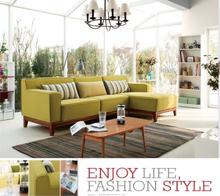 Modern home furniture small fabric sofa,new wooden legs living room sofa