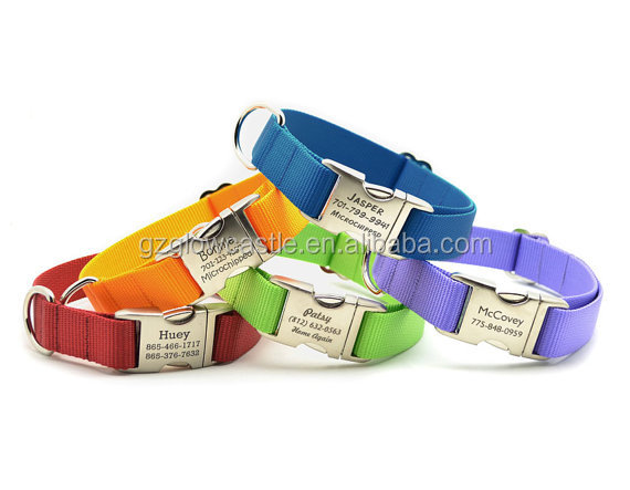 HEAVY DUTY Webbing Dog Collar with Laser Engraved Personalized Buckle (5).jpg