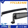 China manufactured 240w off road led light bar, auto parts accessories single row bar lights