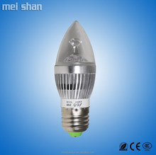 3W aluminum body low power A60 sharp dome shape E14 base 270lm LED bulb lights