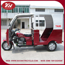 Wholesale popular hot selling KAVAKI 250cc red taxi passenger tricycles with cabin