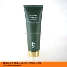 Matte Dark Green Plastic Cosmetics Screen Printing Tube Packaging