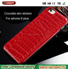 2015 New Products phone case manufacturing Luxury Electroplating Protective Hard Case with Crocodile for iPhone 6+ case
