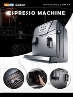 Auto america espresso coffee maker with grinder for coffee beans