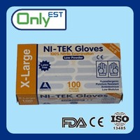 3mil latex free disposable black nitrile glove with customer design