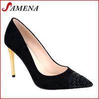 Ladies high heel pointed pumps trendy designer women shoes