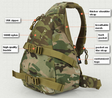 Small Triangular Camping Hiking Multifunctional Army Military Backpack Bag