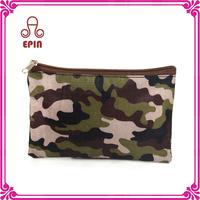 2015 Fashion camouflage pvc mesh zipper cosmetic bag & case for woman