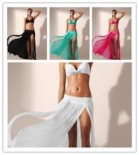 Hot selling models 2015 Stretch net veil Beach skirts Holiday long Maxi dress Beach dress