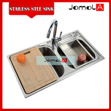 Undermount double bowl 304 stainless steel kitchen sink