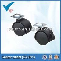 Furniture side mount caster wheel