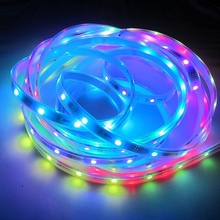 digital addressable DC5v 5050rgb professional led strip lighting, ws2812b, ip67 waterproof, 10mm pcb, 30-60ic/m, CE RoHs
