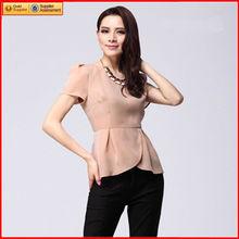 mujeres de moda de la moda blusa de gasa