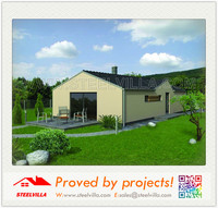 Light Weight Fiber Cement Insulation Panel Prefab Home with solar panel solution
