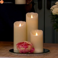 Dancing Flame LED Flickering Flame Wax Candles with Timer