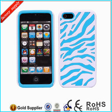 Stylish Mobile Phone zebra combo case for iPhone 5