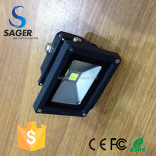 New design floodlight without outside cable IP65 deep gray led flood light 10w