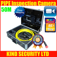 50M HANDHELD VIDEO INSPECTION ENDOSCOPE SNAKE SCOPE PIPE CAMERA 360 degree ROTATION