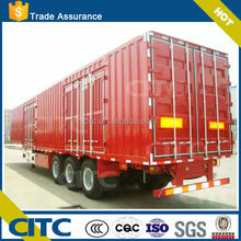 Manufacture China van type semi trailer cargo semi trailer van truck for cargo appliance transportation