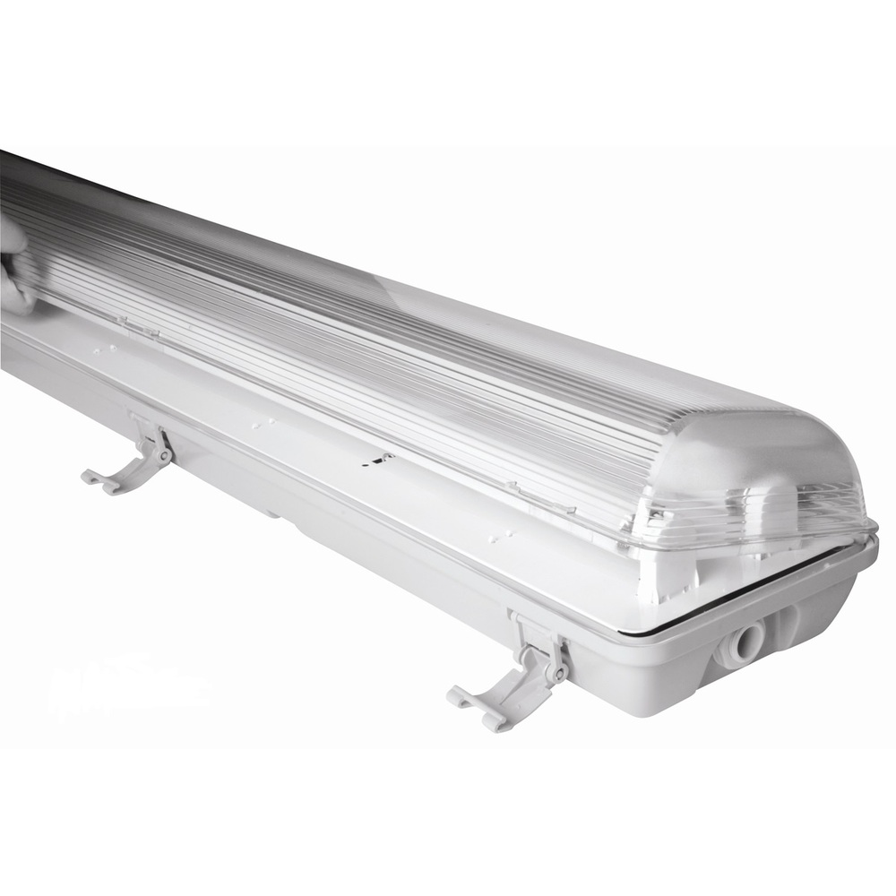 Led Light Fixture Cover: Abs Body Pc Cover Waterproof Led Light Fixture Ip65 2*58w