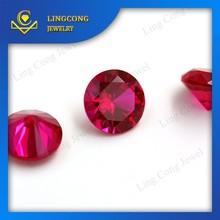 Oxide mineral round brilliant cut 5# ruby 1 carat