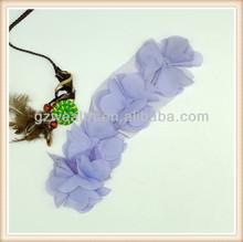 moda flor de tecido do laço para o vestido de china fabrico