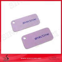 Factory custom logo printed rectangle shape jewelry tags