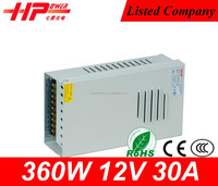 Factory price switch high quality waterproof rainproof series constant voltage output 360 watt 30ampere 110v 12v power supply