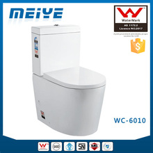 WC-6010 Two-Piece Australian Watermark Toilets with Geberit or R&T Flush Valve & Soft Closing Cover, Australian Standard WELS