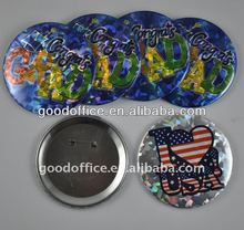 Factory production UV color printed pin button badge