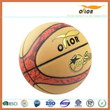 Size 6 PVC leather laminated outdoor training basketballs