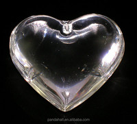 44mm Clear Glass Puffy Heart Pendant for Chandelier(GH44mmC01)