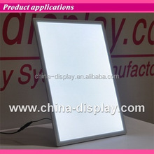 Acrylic frame tabletop laser led lighted High Quality Acrylic Sign Holder&am