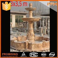 High Quality Marble elephant buddha statue fountain with led lights