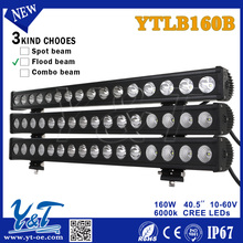 YTLB160B led headlight motorcycle 16*10W 4x4 utv lights bars Flood Beam headlight 4x4 utv fog lights led