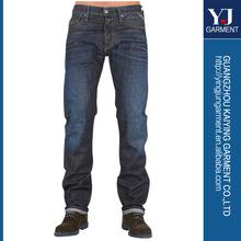 famosa marca de pantalones vaqueros recta ajuste originales para hombre de jean