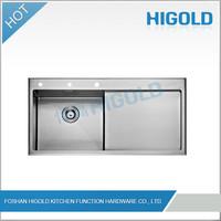 2014 High Quality Drain Pad Kitchen Sink